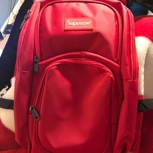 Red Brand New Supreme Backpack